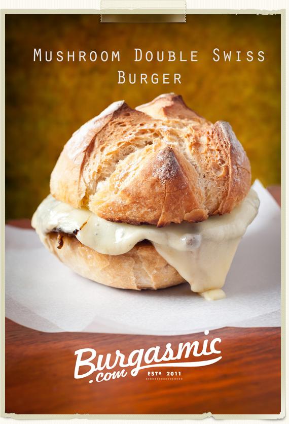 Mushroom Double Swiss Burger